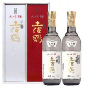 土佐鶴 大吟醸 白鳳印千寿  720ml 二本 紅白セット