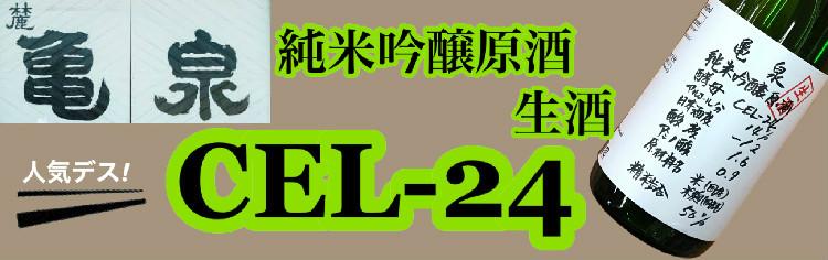 亀泉 純米吟醸原酒 CEL-24 生酒