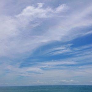 夏海に波🌊夏空にハロ。日本酒 高知